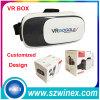 Glaces en plastique de virtual reality de Vr de l'écouteur 3D de cadre de Vr de carton de Google