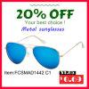 Lunettes de soleil chaudes en métal de marque de mode de vente avec le miroir pour l'homme/femme