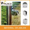 8-12mm Dの形のステンレス鋼のガラスクランプ/ガラス柵クランプ