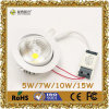 5W-15W LED High Power 7W ajustável COB Light