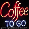 Het waterdichte LEIDENE van het Neon Open Teken van de Koffie