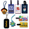 Colorful por atacado Rubber Silicone Luggage Tag com Printing Custom Logo