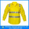 長い袖の安全100%年の綿の高い可視性作業ワイシャツ