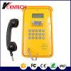 Telefone áspero industrial impermeável do telefone Knsp-16 LCD de VoIP do telefone do túnel