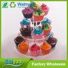 3つの層の円形のアクリルの結婚披露宴のカップケーキの立場のウエディングケーキの立場