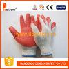 2 латекса раковины T/C бежа провода перчатки Dkl313 хозяйственных красных ровных законченный работая