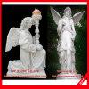 De steen Gesneden Gravure van de Engel van het Standbeeld van de Engel van het Beeldhouwwerk van de Engel
