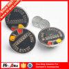 Botón del metal de los pantalones vaqueros de los colores de la certificación del SGS vario