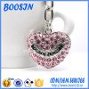 Wholesale를 위한 Rhinestone Crystals를 가진 주문 Engraved Metal Heart Keychain