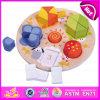 2015 brinquedo educacional de madeira de Montessori geométrico, brinquedo de madeira das crianças do bloco geométrico da forma, brinquedo de madeira pré-escolar de harmonização W13e053