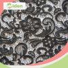 Tessuto chimico del merletto del vestito nero africano poco costoso dei fiori