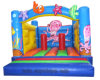 Хвастун замока раздувной игрушки парка океана скача раздувной