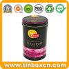Carrello di tè che impacca la scatola metallica rotonda dello stagno del tè del metallo impressa 3D