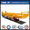Cimc Huajun Lowbed Semi-Trailer mit Side Wall und Ramp