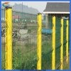 Cerca revestida residencial del jardín de la curva del PVC del metal soldado con autógena de la comunidad