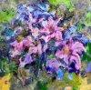 Fiore astratto di pittura a olio