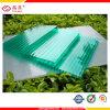 6mm замороженное кристаллический зеленое голубое здание листа полости поликарбоната