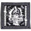 Выполненный на заказ хлопок напечатанный логосом черный выдвиженческий головной платок
