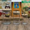 Хранения конфеты еды крышки природы высокого качества фабрики опарник оптового деревянного стеклянный (100028)