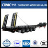 Cimc Low Bed Truck Semi-Trailer para Excavator Trasnsportation