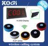 CE aprobado 433,92 MHz Sistema inalámbrico de llamada para camareros