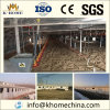 Poultry farm with farm equipment