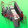 Changement de couleur rapide Automatic Powder Coating Line pour Metal Products