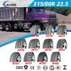 Alto pneumatico radiale resistente del camion della gomma 315/80r22.5 di &No/off con l'ECE