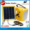 Radio solaire bon marché des lumières des prix DEL, indicateur de batterie, chargeur de téléphone d'USB