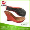 Suola di scarpa rossa del cuneo di modo dell'alto tallone della donna