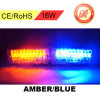 16 diodo emissor de luz 18mode Car/Truck Strobe Flash Warning Windshield Dash Lights Amber/Blue