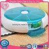 Plástico semanal do organizador redondo do comprimido do curso caixa do comprimido de 7 dias
