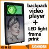 Nueva cartelera humana del morral del diseño que recorre LED