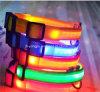 Collier r3fléchissant flashant multicolore d'animal familier de sécurité du nylon DEL