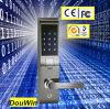 Fechamento de porta do código da impressão digital da tela de toque da segurança Home