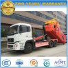 10 carro resistente del brazo de gancho de leva de Cbm de las ruedas 25 con el rectángulo conjunto de la basura de la compresa