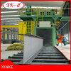 Rodillo transportador de granallado máquina de limpieza I Beam H viga estructura de acero