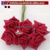 Flores artificiais de Rosa da espuma de Colourfast da flor do favor do casamento (W2034)