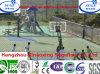 Estruendo, suelo de la cancha de básquet del campo del baloncesto del triángulo del CE