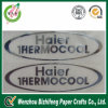 Escritura de la etiqueta auta-adhesivo hinchada de la etiqueta engomada del níquel del OEM del fabricante