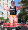 Draußen Giant Inflatable Muscle Man Character mit Free Blower