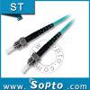 Cable a una cara de la cuerda de corrección de la fibra del conector del St APC Om3 (SPP-ST-ST-A-SM3-XX-X)
