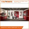 Gabinetes de cozinha de madeira de Soild da cor vermelha para Ámérica do Sul
