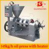 Maquinaria de la producción petrolífera de cacahuete del tornillo del control de la temperatura (YZYX10WK)