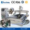 Máquina del ranurador del CNC de 3 ejes de rotación para los muebles de madera Akm1325-4th rotatorios