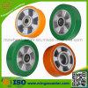 Elastisches Polyuerthane Mold auf Aluminium Core PU Wheel für Caster