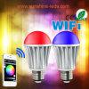 Diodo emissor de luz Bulb de WiFi Control 7.5W RGBW AC100-240V