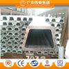 Vente directe d'usine profil en aluminium de qualité de 6000 séries, profil en aluminium d'extrusion pour le guichet et porte