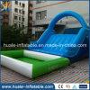 Diapositiva de agua grande de la nueva del diseño venta de la fábrica, diapositiva de agua inflable para las piscinas de Inground