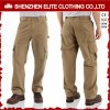 2017 Custom Men Cheap Brown Work Cargo Algodão Twill Pants